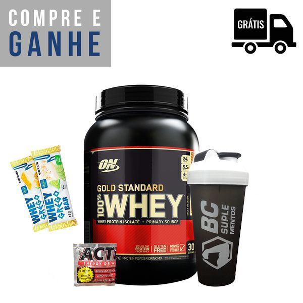KIT: 100% Whey Gold 900g + Brindes