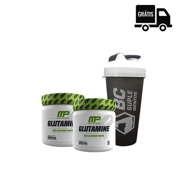 KIT: 2x Glutamine 300g (600g Total) + Coqueteleira