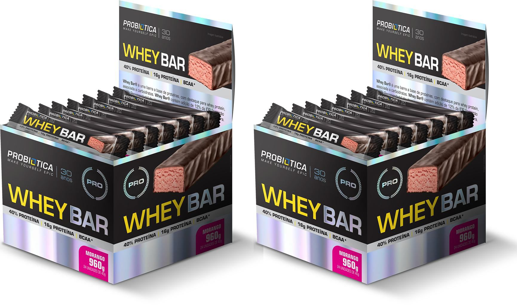 KIT: (48 Uni.) 2x Caixas Whey Bar - Probiotica
