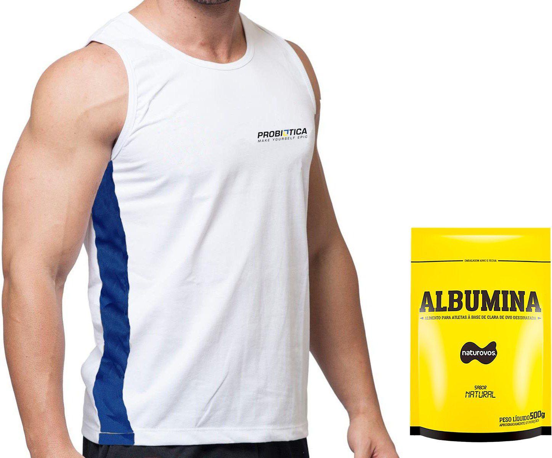 Kit: Albumina 500g + Camiseta