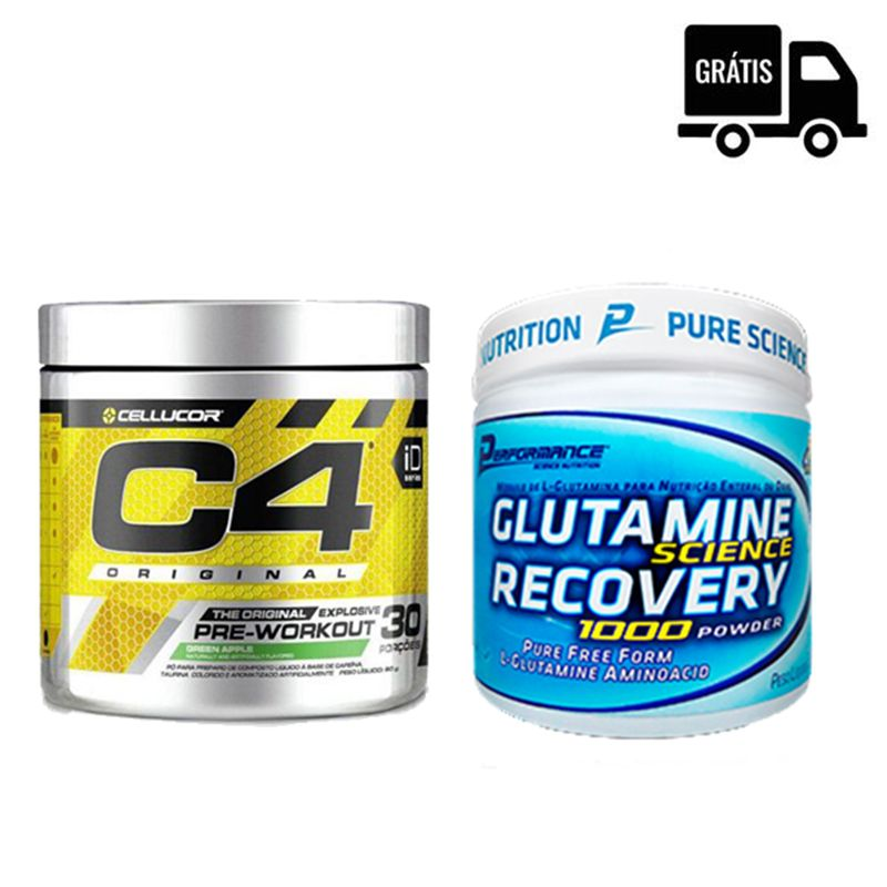 KIT: C4 30 Doses + Glutamine Recovery 300g