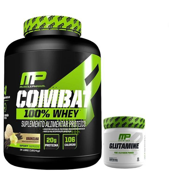 KIT: Combat 100% Whey 1,8Kg + Glutamine 300g