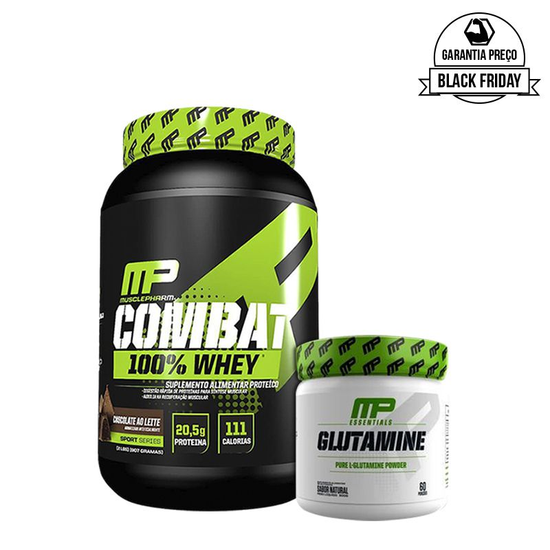 KIT: Combat 100% Whey 907g + Glutamine 300g