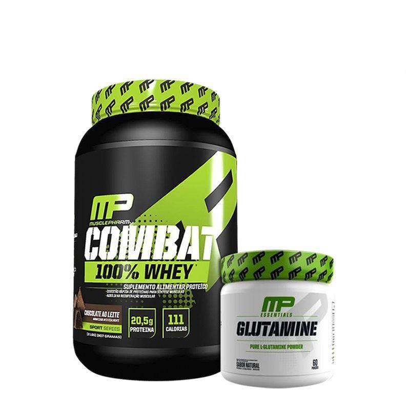 KIT: Combat 100% Whey 907g + Glutamine 300g