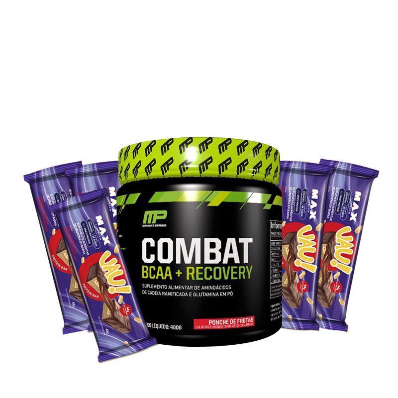 KIT: Combat BCAA + Recovery 400g + 5x Uau!