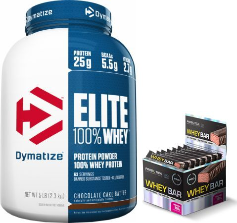 KIT: Elite 100% Whey 5lbs + 24 Uni. Whey Bar