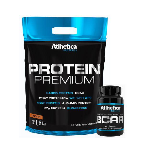 KIT PRO SERIES: Protein Premium 1,8Kg + BCAA 60 Caps.