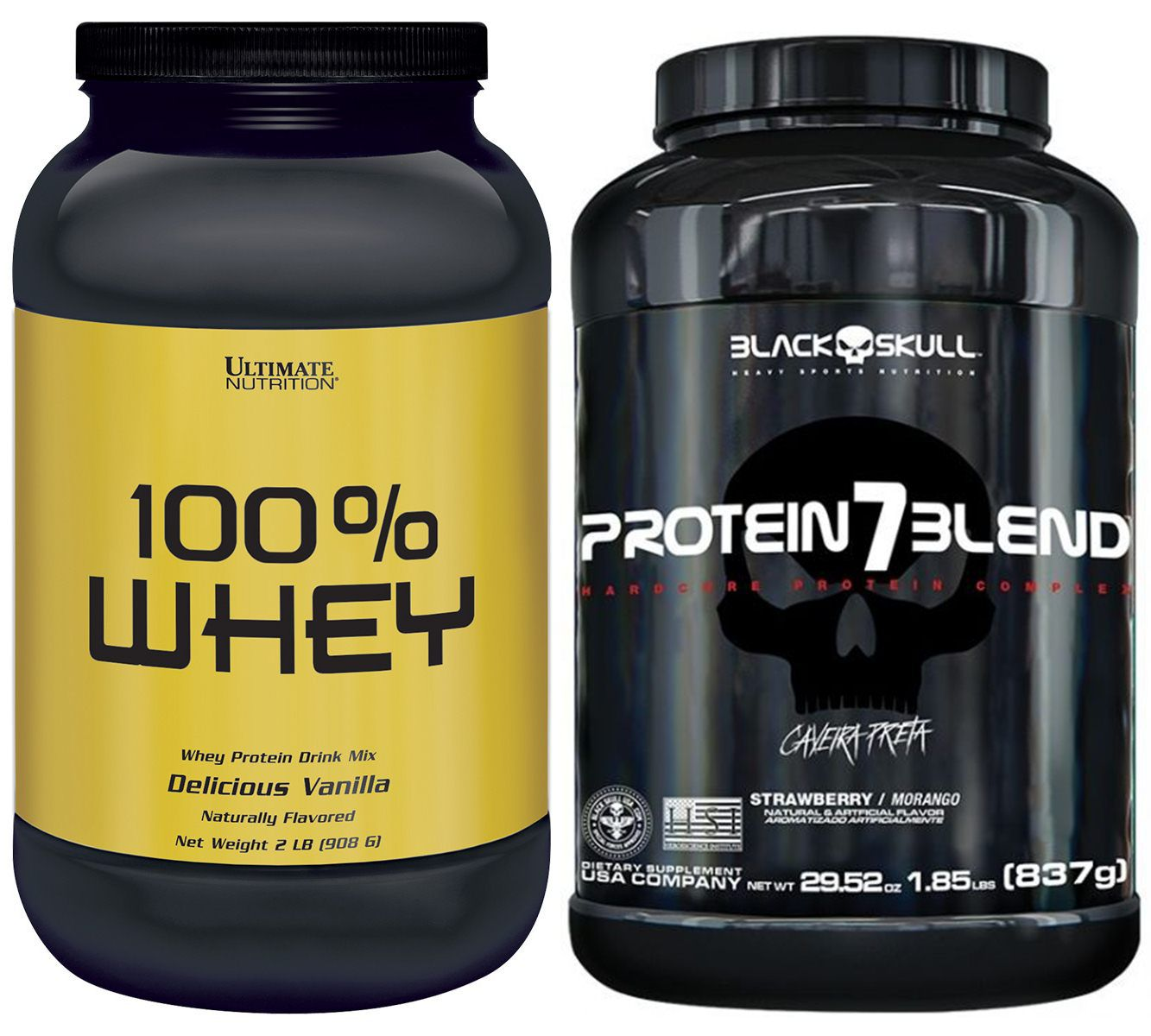 KIT: Protein 7 Blend 837g + Whey Protein 100% 2lbs