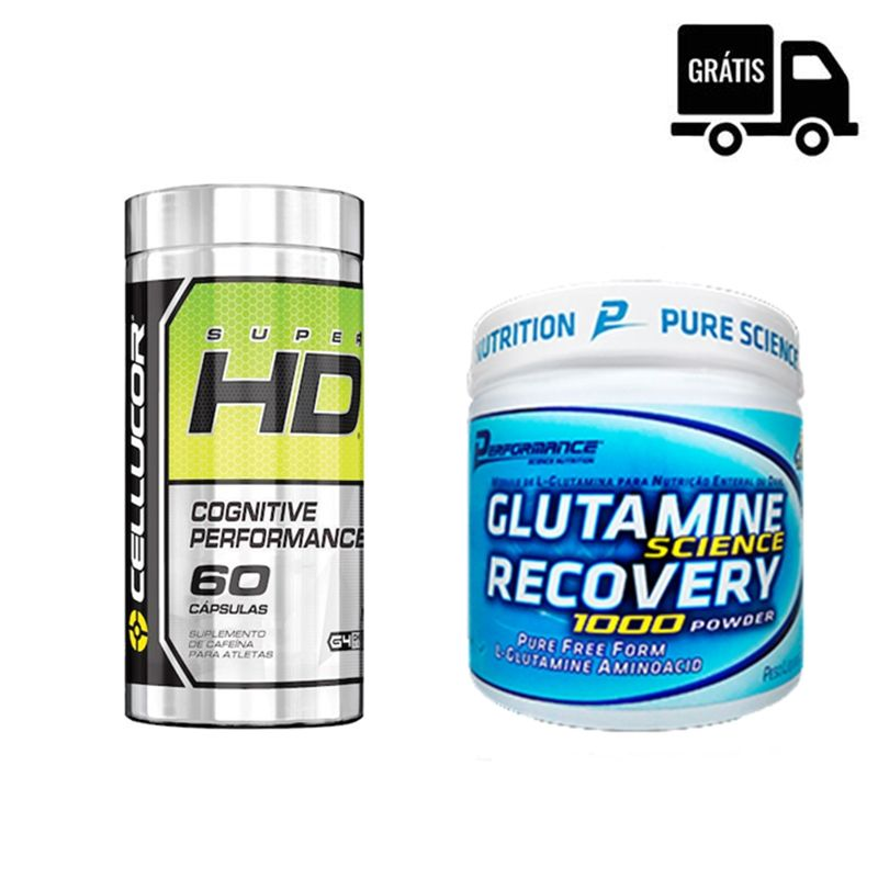KIT: Super HD 60 Caps. + Glutamine Recovery 300g