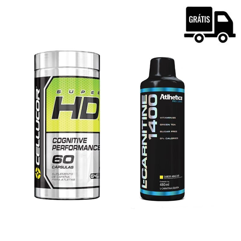 KIT: Super HD 60 Caps. + L-Carnitine 1400 480ml