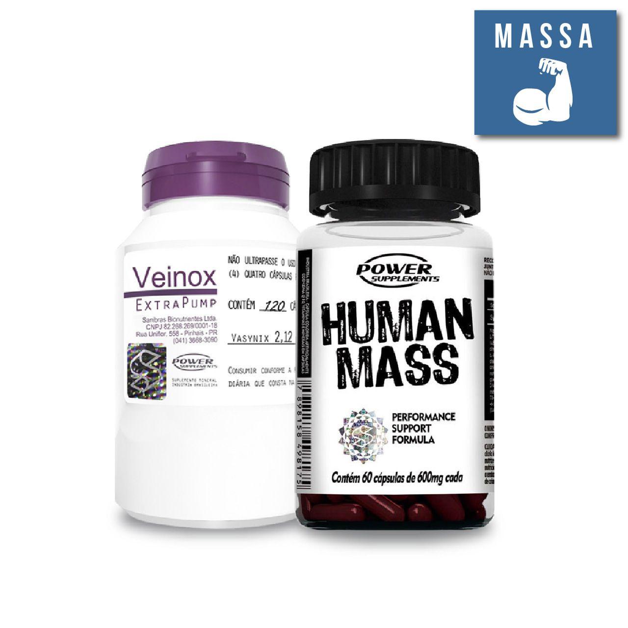 KIT: Veinox 120 Caps. + Human Mass 60 Caps.