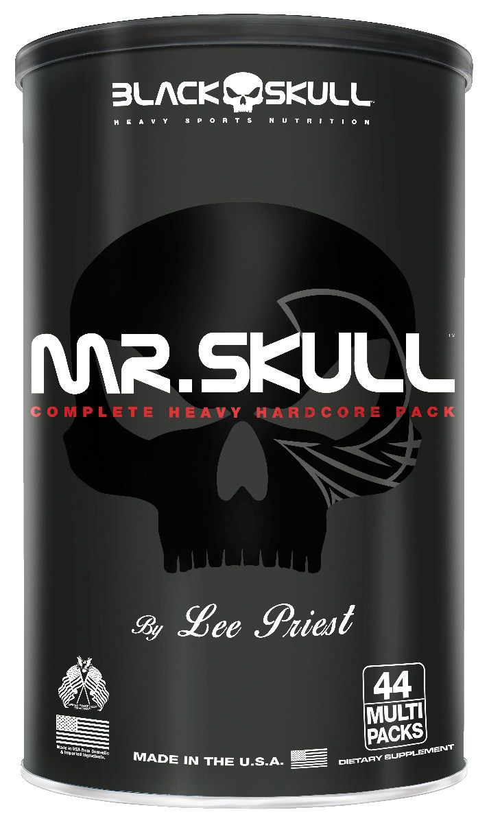 Mr. Skull 44 Packs - Black Skull