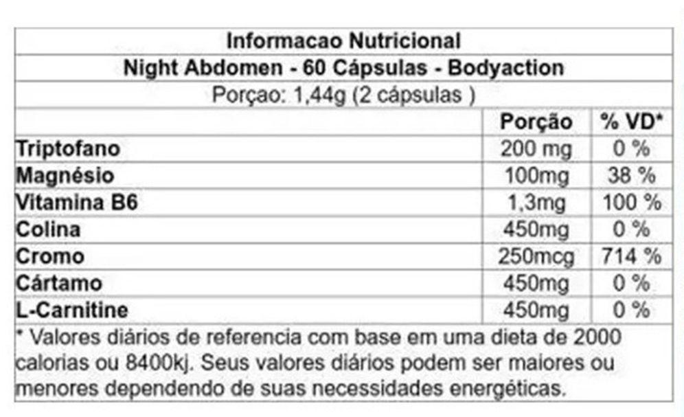 Night Abdomen 60 Caps. - Body Action