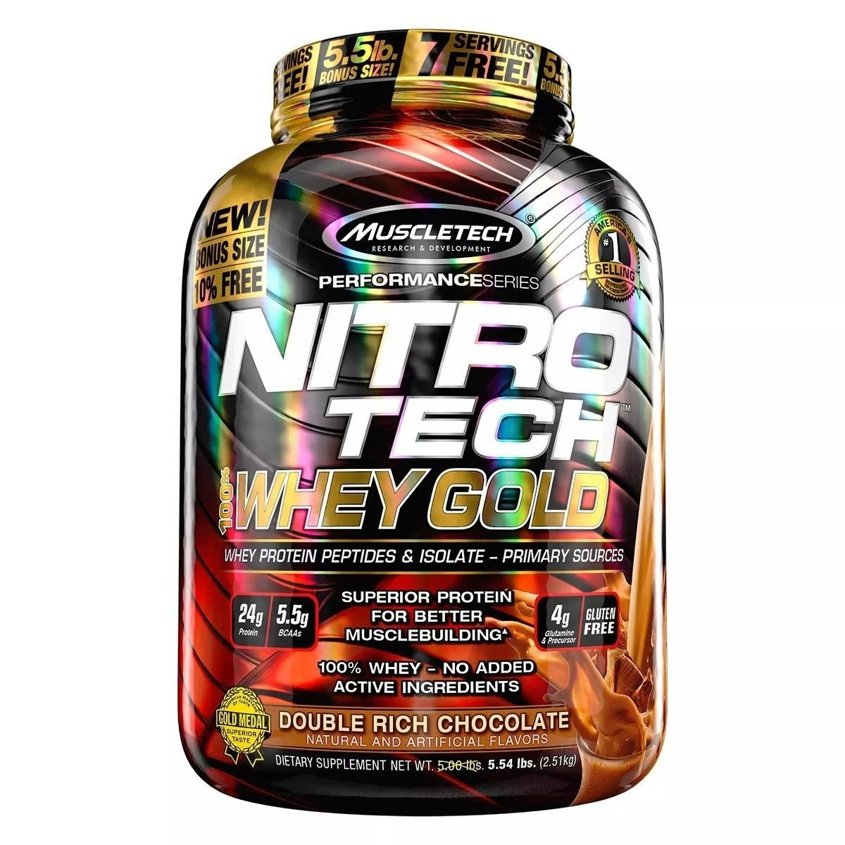 NitroTech 100% Whey Gold 2,5Kg - MuscleTech
