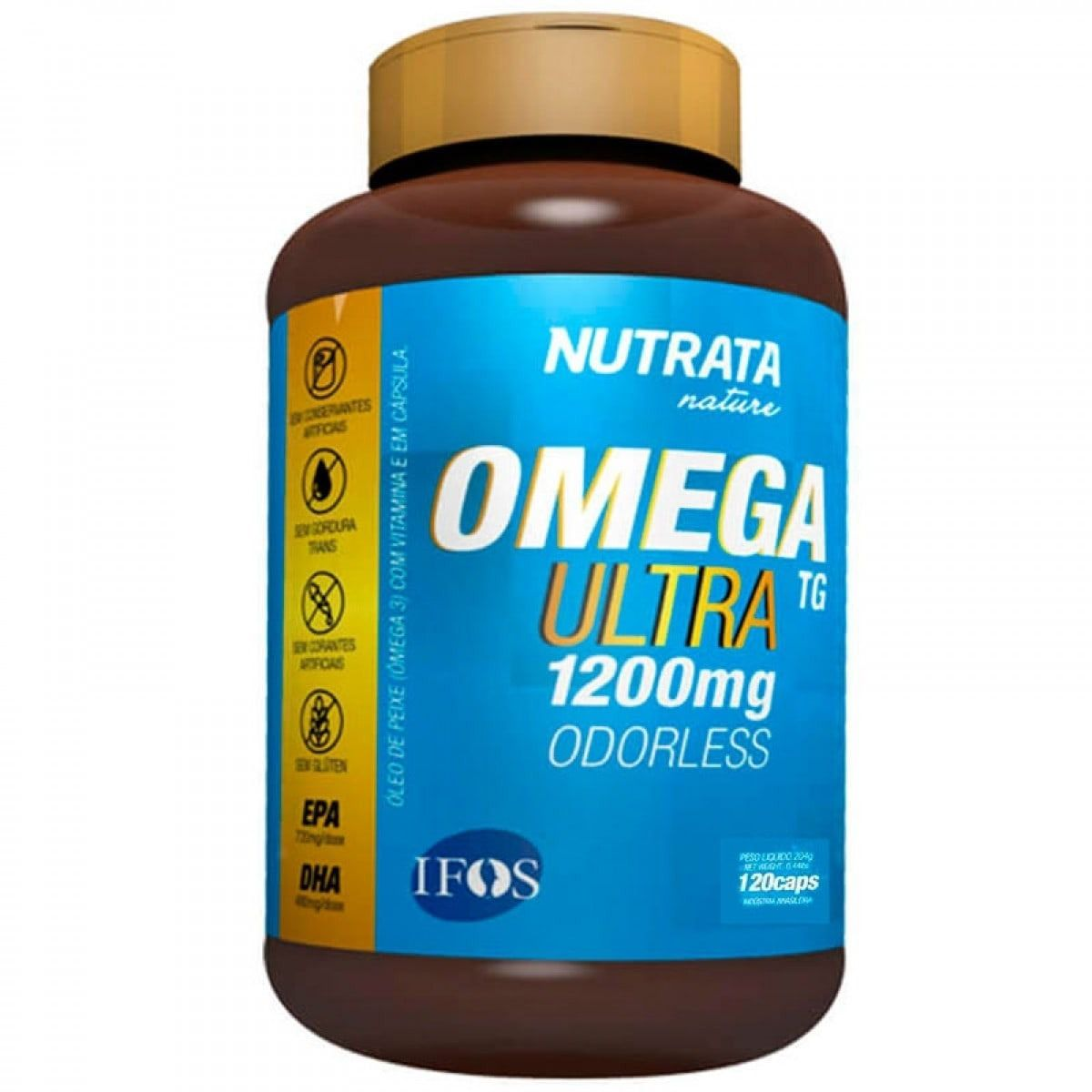 ee88931f1 Omega 3 Ultra TG 1200Mg 120 Caps. - Nutrata - BC Suplementos ...