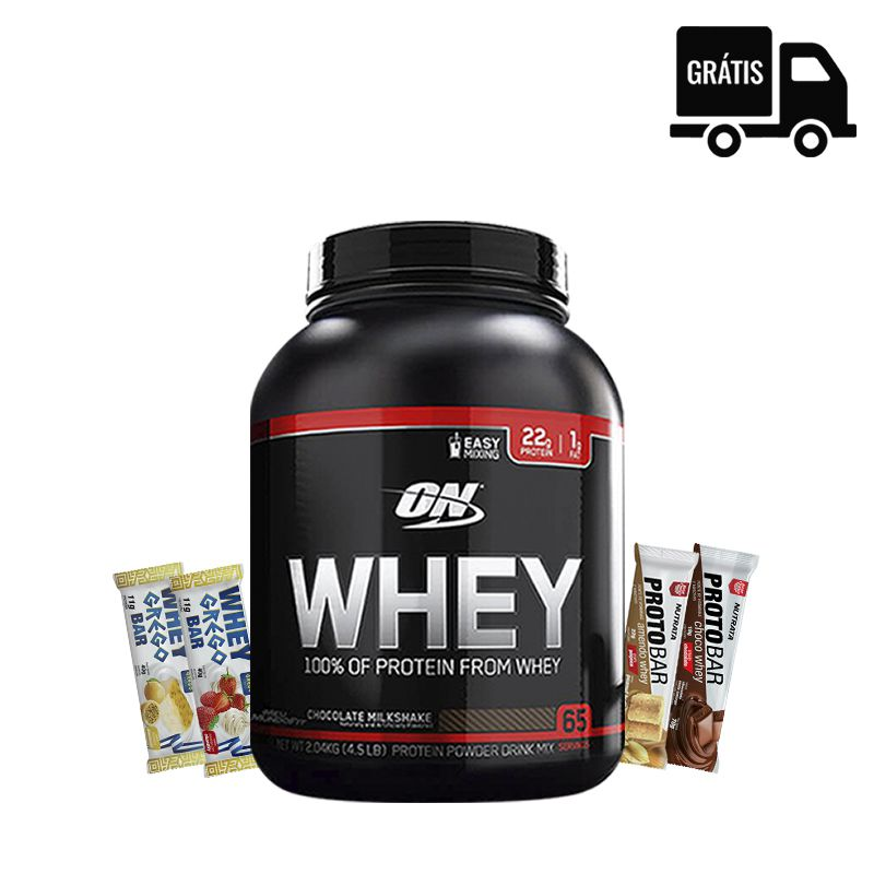 On Whey 100% 2,04Kg + 4x Barrinhas