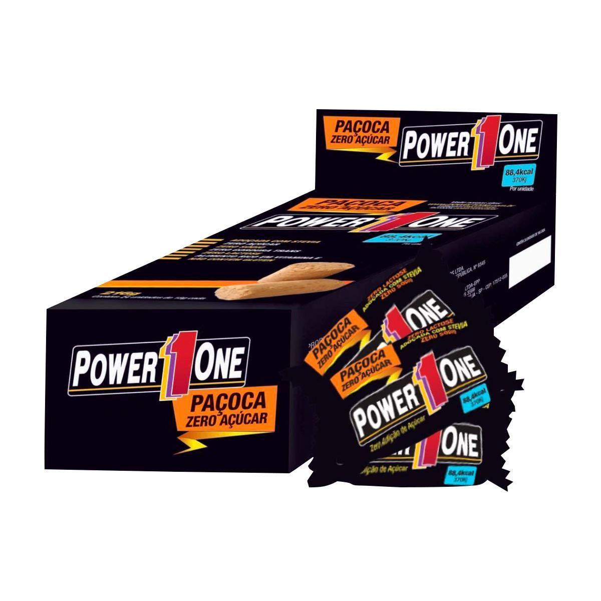 Paçoca Zero Açucar Caixa (24 Uni.) - Power1One