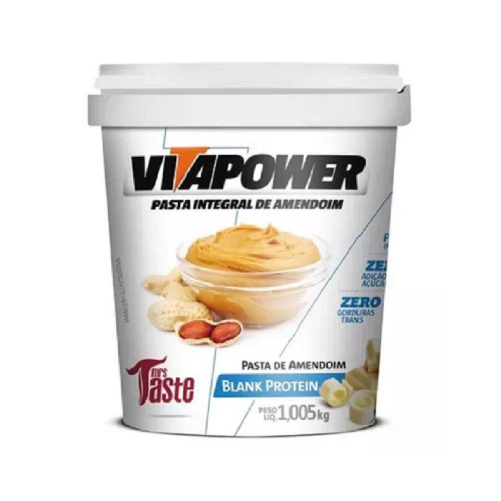 Pasta de Amendoim Chocolate Branco 1Kg  - Vitapower