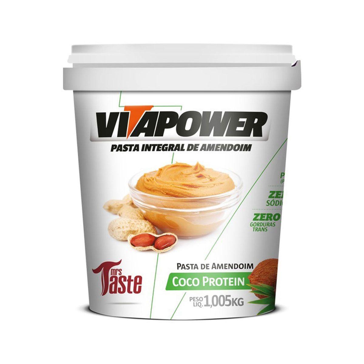 Pasta de Amendoim Coco Protein 1Kg - Vitapower