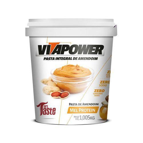 Pasta de Amendoim Mel Protein 1Kg - Vitapower