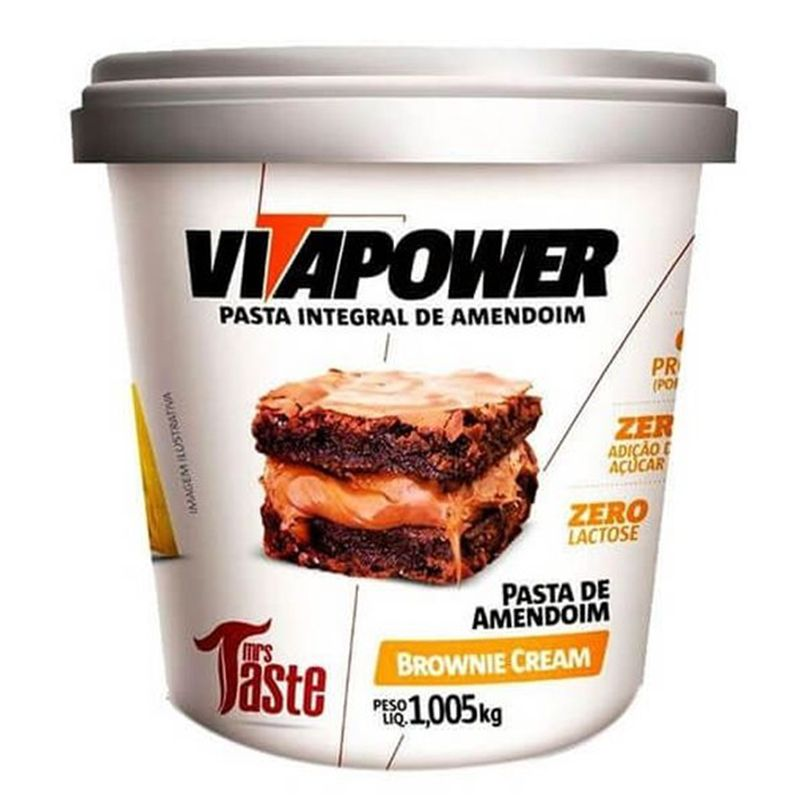 Pasta de Amendoim Brownie Cream 1,005Kg - VITAPOWER