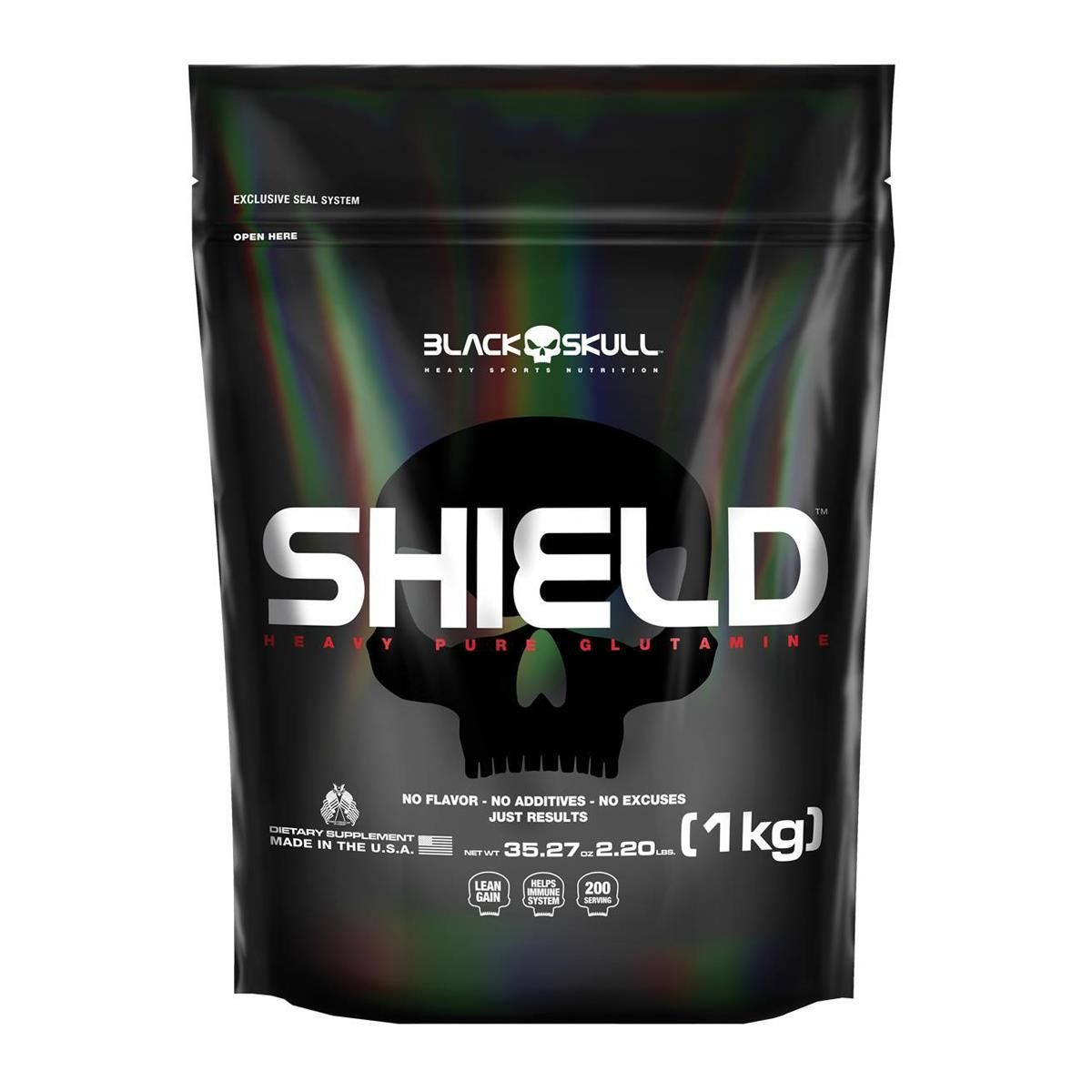 Shield Heavy Pure Glutamine (1Kg) - Black Skull