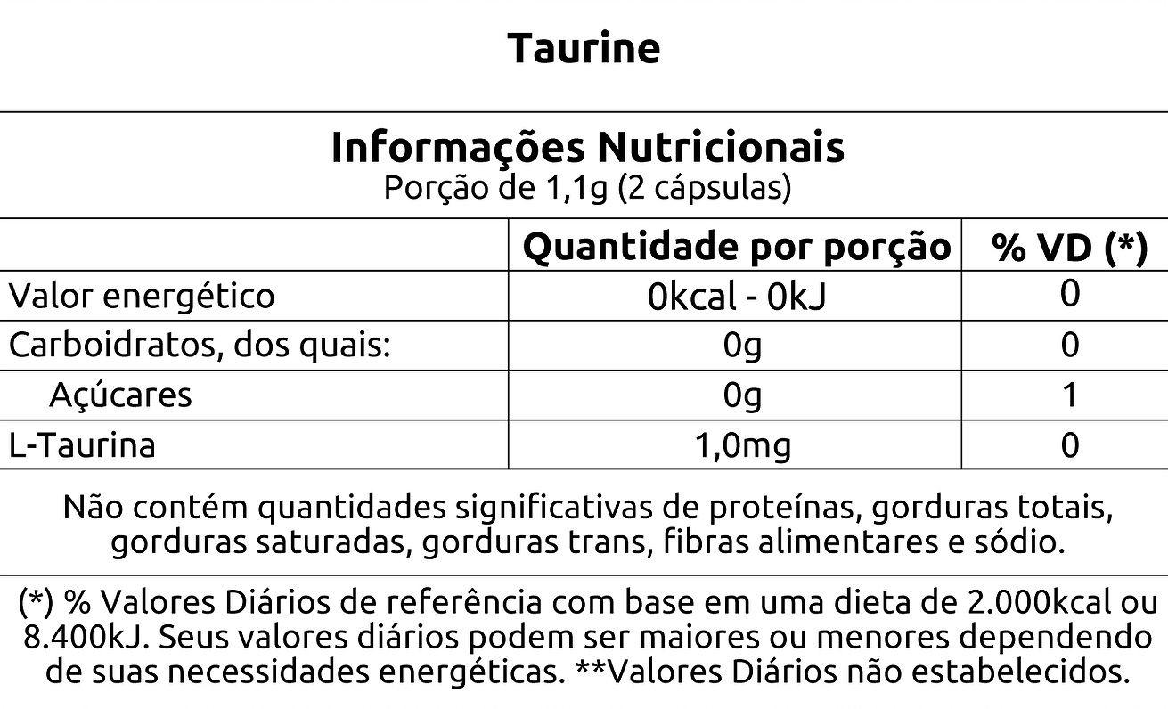 Taurine 60 Caps. - VITAFOR