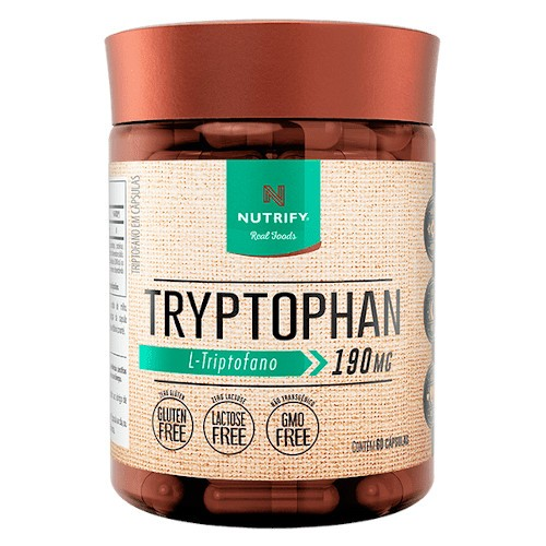 Tryptophan L-Triptofano 190mg 60 Caps - Nutrify