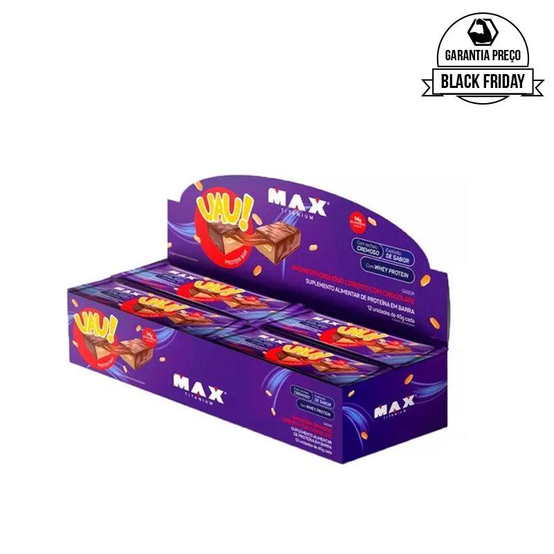 Uau! Protein Bar 12 Uni. - Max Titanium  - BC Suplementos