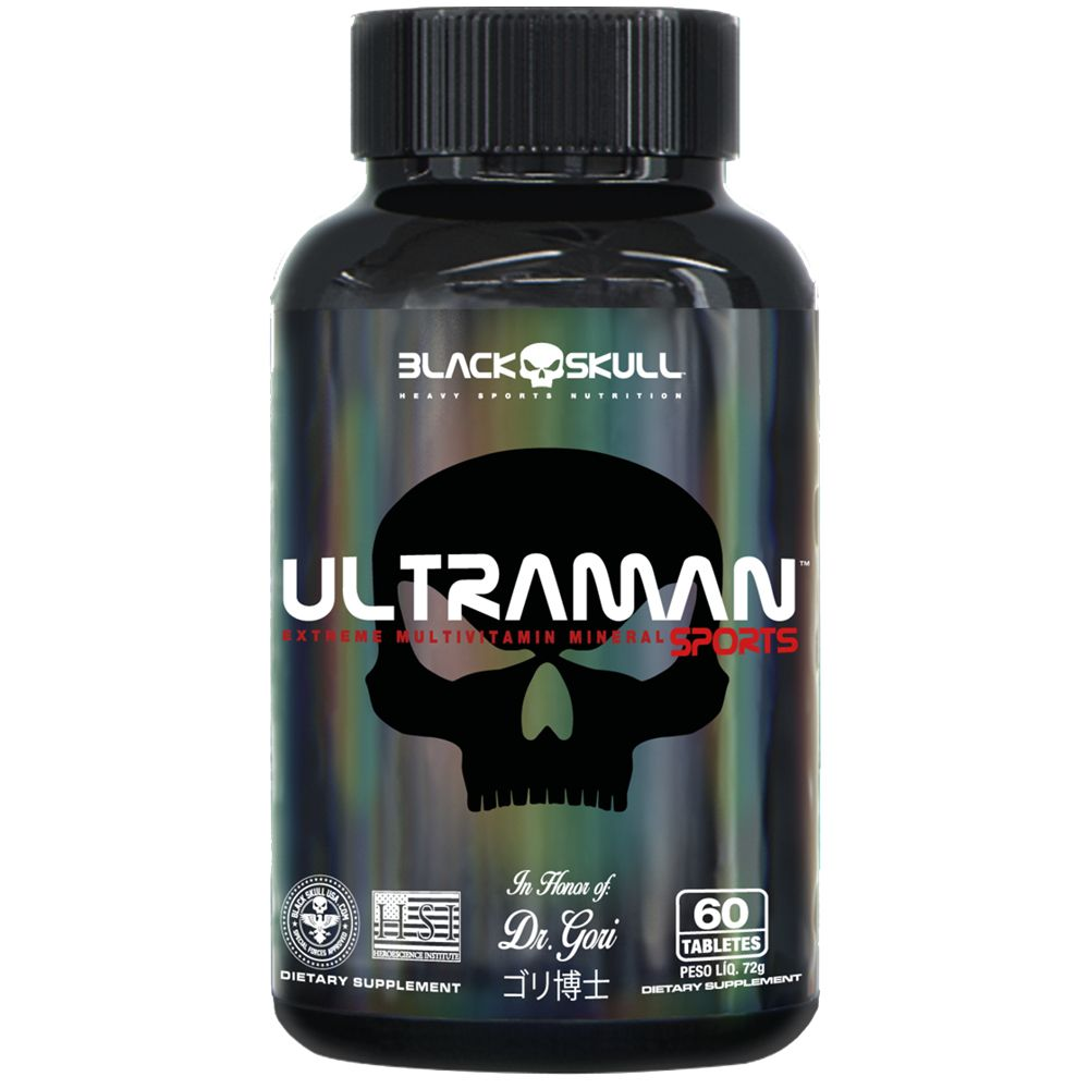 UltraMan Sports Multivitamínico 60 Caps. - Black Skull