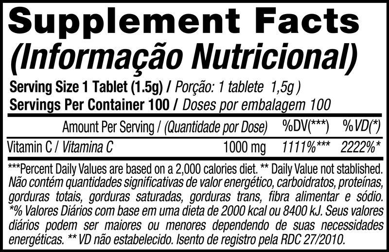 VIT C 1000 Vitamina C - 100 Tabs. - Black Skull