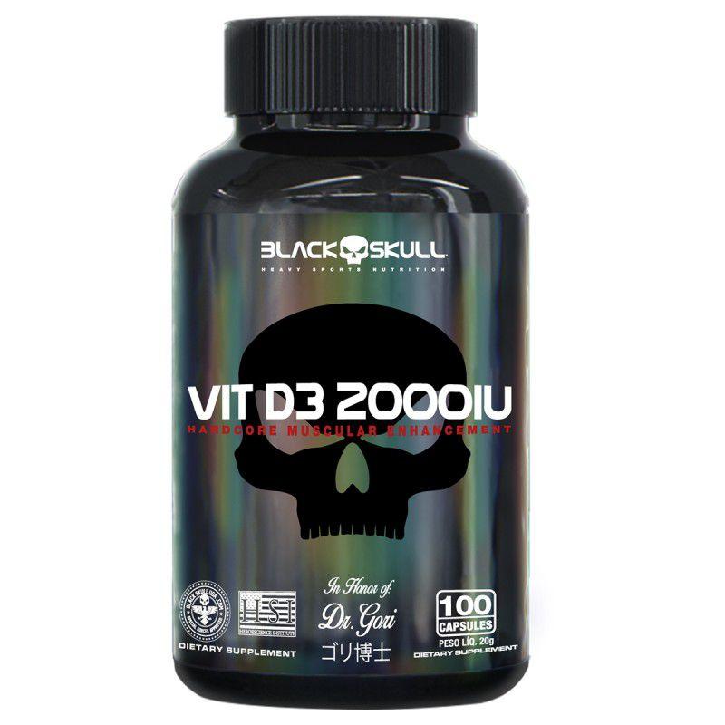 Vitamina D3 2000IU 100 Caps. - Black Skull