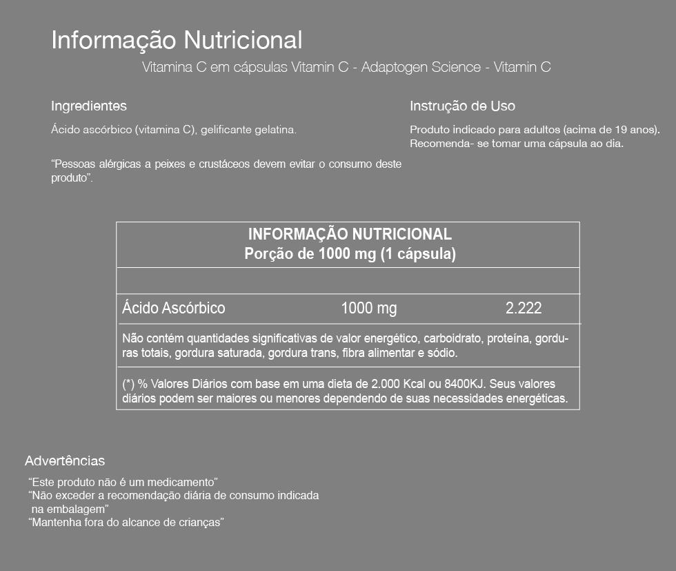 Vitamin C 1000mg 60 Caps. - ADAPTOGEN