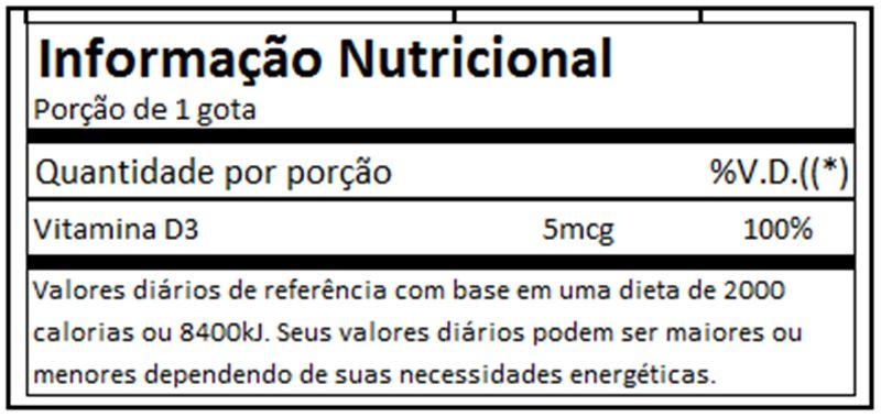 Vitamina D3 30ml - Max Titanium