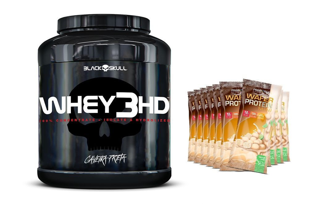 Whey 3HD 1,8kg + Mini Wafer Protein 12 Unidades