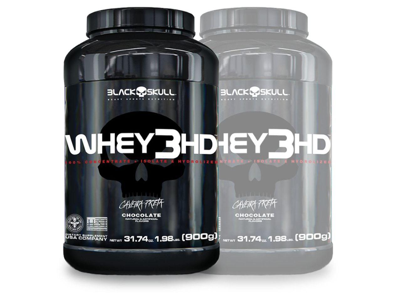Whey 3HD 900g - Black Skull - 2 Unidades e Frete Grátis