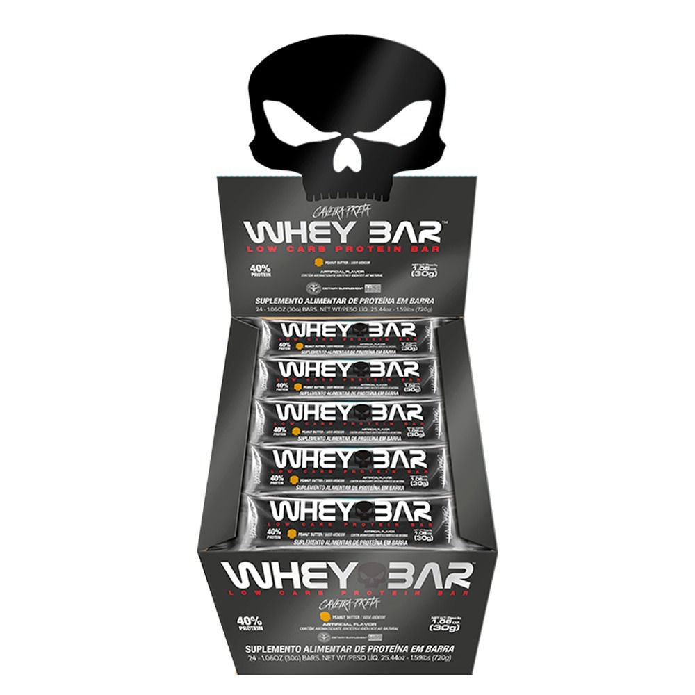 Whey Bar 24 Uni. - Black Skull