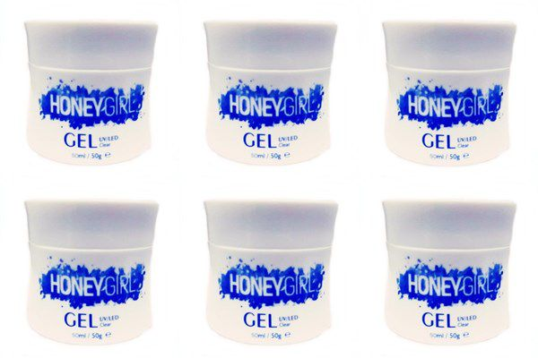 12 Gel Clear Transparente Honey Girl 50 Gr Para Unhas Gel e Acrigel Azul