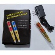 Dermógrafo Universal Laranja Para Micropigmentação Bivolt