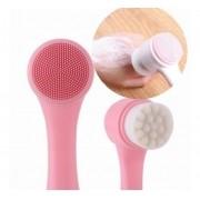 Escova Limpeza Facial 2 Em 1 Aparelho Massagem Esponja