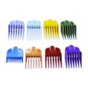 Kit 8 Pentes Disfarce Colorido Máquinas De Corte Barbeiro