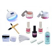 Kit Blindagem De Unha E Banho De Gel Cabine Top Coat Primer Gel Clear Gel Pink