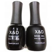 Kit Top Coat X & D + Base Gel Primer X&d Unha Gel Acrígel Led Uv