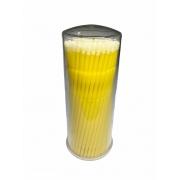 Microbrush Cotonete Para Alongamento De Cílios 100 Unidade Amarelo