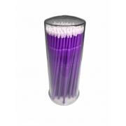 Microbrush Cotonete Para Alongamento De Cílios 100 Unidade Roxo