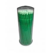 Microbrush Cotonete Para Alongamento De Cílios 100 Unidade Verde