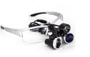 Óculos Lupa Cabeça 3,5x Led 3w Cirúrgico Dentista Estética