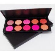 Paleta Blush Profissional Maquiagem Kit 10 Cores Make Up