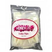 Tips Stiletto Natural Saco Honey Girl Unha Gel Porcelana Acrigel Com 500