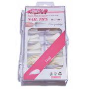 Tips Stiletto Unha De Gato Branca Honey Girl Com 100 Unidades
